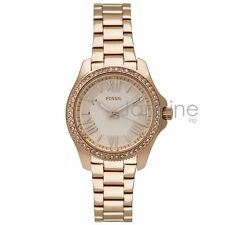 Fossil Authentic Watch Women's AM4578 Rose Gold 29mm Mini Cecile Stainless Steel