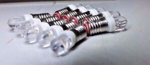 10x 6 V E5 Les Del Blanc Chaud Miniature Filament Vis Maison De Poupées Ampoules-afficher Le Titre D'origine