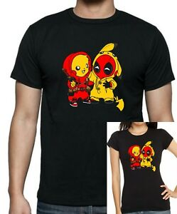 7da2682a Details about Deadpool Pikachu PIKAPOOL Besties T-shirt .. Up to 5XLarge