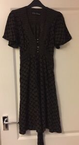 Ladies-Bkack-And-Brown-River-Island-Dress-Size-8-Excellent-Condition
