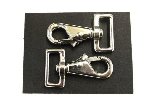 25mm Snap Clip Pony Cavallo Tappeto riparazioni Gamba Clip cane conduce Nickel Placcato x2 x5 x10