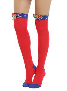 9c5f4c879ba NWT Sexy DC Comics Wonder Woman Cosplay Costume Over The Knee Socks ...