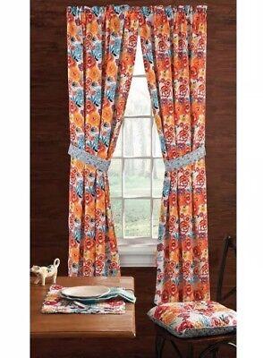 ✨Lot of 2 -2pc Sets Pioneer Woman Kitchen Curtain Panels Flea Market 2  Windows ✨ 28332635400   eBay