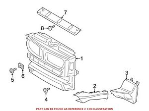 For 2012-2016 BMW 328i Radiator Support Air Duct Genuine 87231WQ 2013 2014 2015