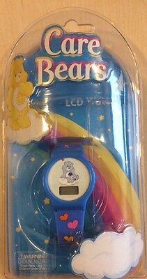 American Greetings Care Bears LCD Watch Multi Function New Blue Grumpy Bear