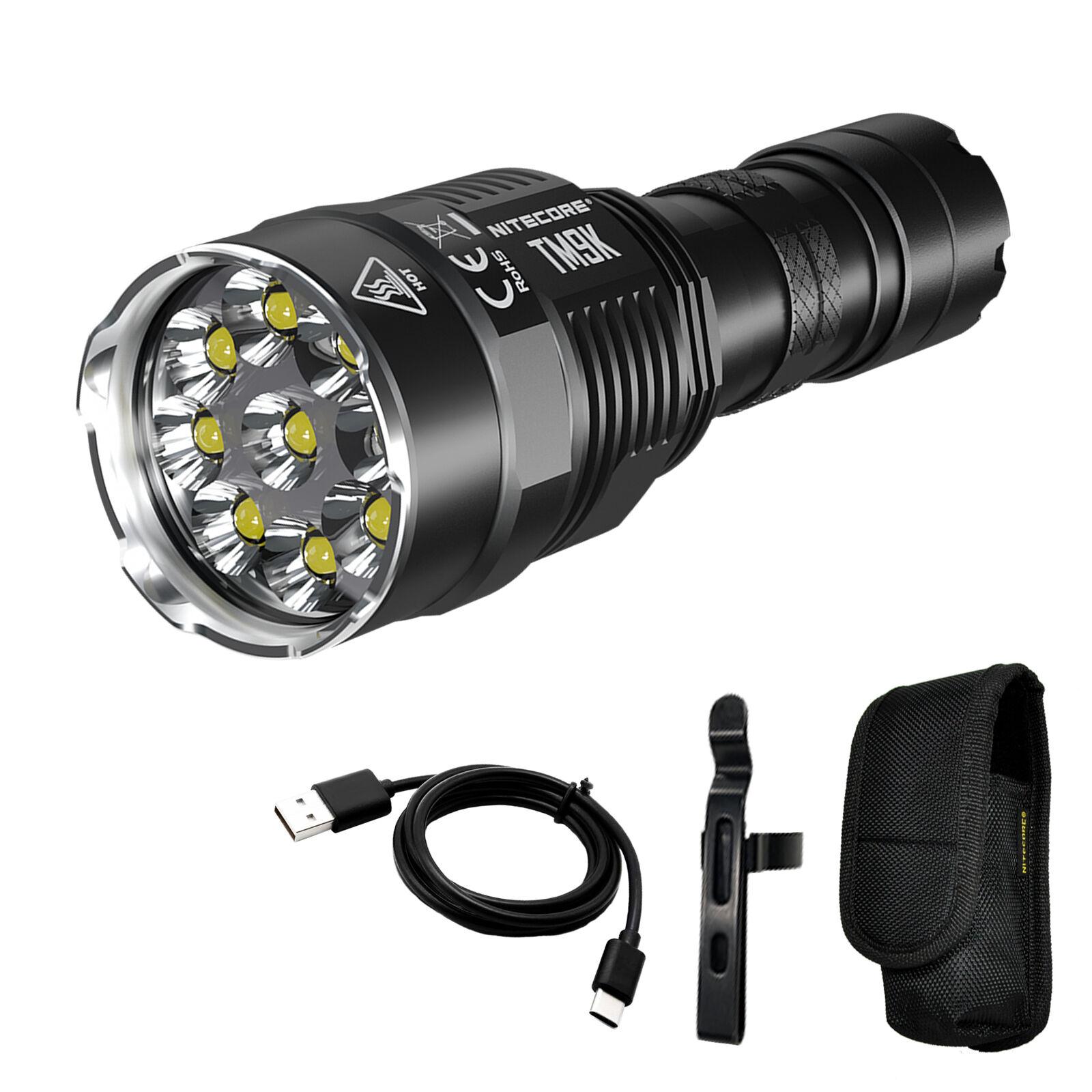 NITECORE TM9K 9500 Lumen USB-C QC Rechargeable Flashlight