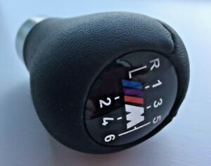 BMW-M-Sport-6-Speed-Gearknob-Short-for-Manual-Cars-Chrome-Genuine-Leather