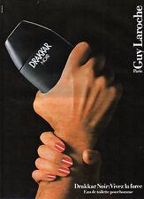 Publicité Advertising 1989  Parfum DRAKKAR NOIR de GUY LAROCHE