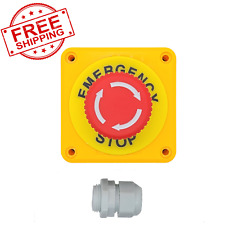 Us Stock Red Emergency Stop Push Button Switch 440v 10a Normally Closed Ce