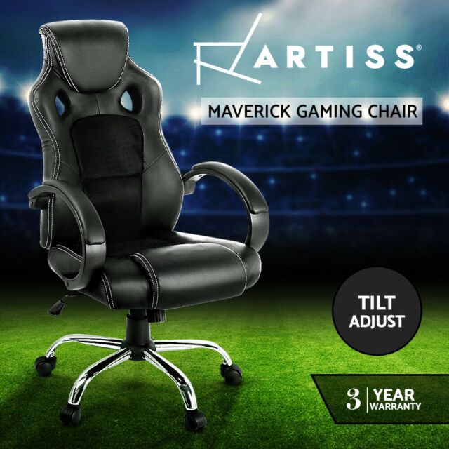 Artiss Gaming Office Chair Computer Chairs Seating Racer Racing Executive Black