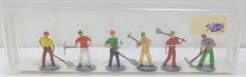 Merten 870 HO Track Repairmen #1 Pack of 6 Figures