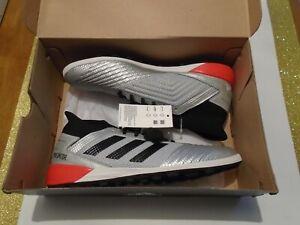 NIB-adidas-Predator-19-3-TF-Turf-Men-039-s-Soccer-Shoes-Many-Sizes-F35629-Silver