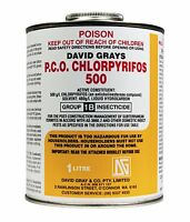 Pco Chlorpyrifos 1l David Grays Professional Concentrated Insecticide Termite