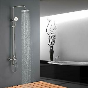 SUS304-Stainless-Steel-Rain-Shower-Set-with-Spray-Faucet