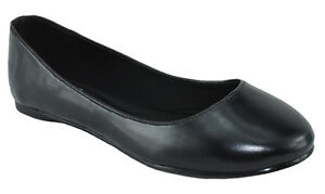 4476a65cae01 Soda Comfortable Shoes Women Ballet Flat Round Toe Gel Insole Black ...