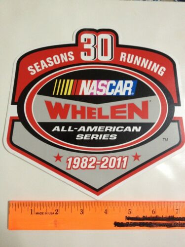 "Seasons 30 Running Whelen All American Series Racing Sticker Decal 7.75/"" X 7.5/"""