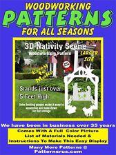 Outdoor Nativity Set Woodworking Plan Yard Art Christmas Crafts 3