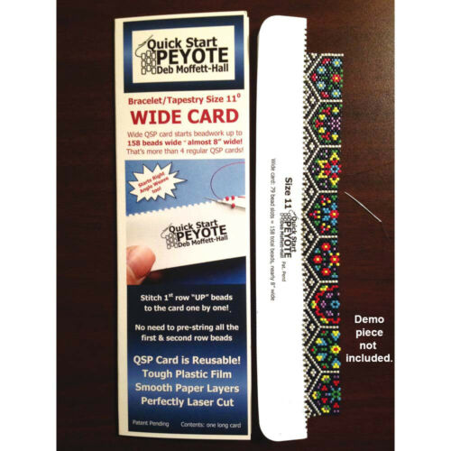 Quick Start Peyote Card Wide Tapestry Size11 55155 Seed Beads Delicas RAW