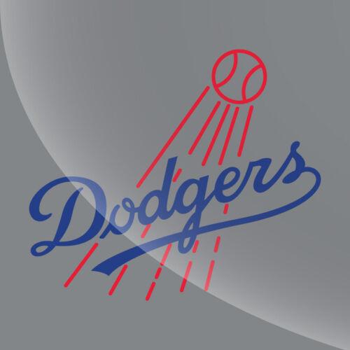 LA Dodgers Vintage Logo Decal Sticker 3 inch to 11 inch