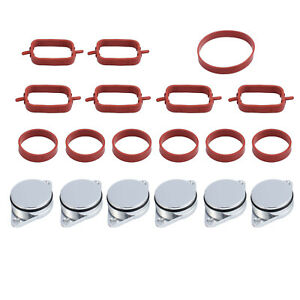 6X33MM FIT FOR BMW DIESEL SWIRL BLANKS FLAP REPAIR DELETE W// INTAKE GASKET Solid