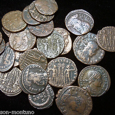 GENUINE UNCLEANED ANCIENT ROMAN COINS SILVER COINS INCLUDED! GOOD QUALITY