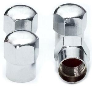 4-er-Set-Ventilkappen-HEXABIG-NEW-Messing-Chrom-Valve-Caps-Reifen-Ventil