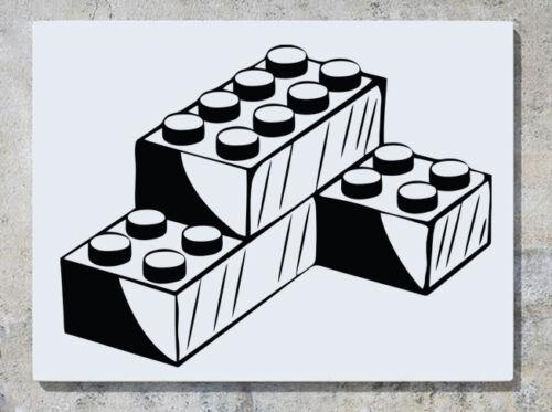 Lego Brick Building Blocks Childrens Wall Decal Art Sticker Picture