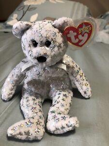Ty-Beanie-Baby-034-The-Beginning-034-Bear-2000-Very-Rare-RETIRED-2000