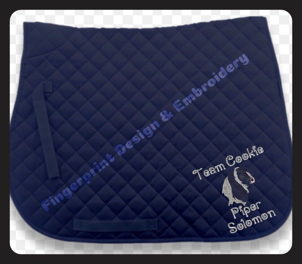 SPECIAL OFFER 2 X PERSONALISED embroiderot Saddlecloth