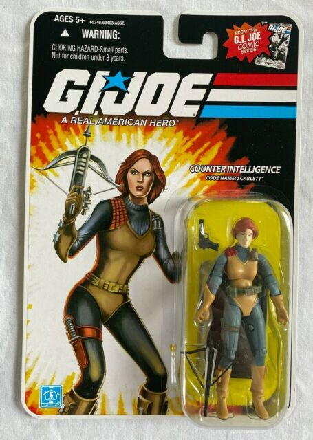 GI Joe  25th ANN Figure Stand COBRA Figure CODE NAME SCARLETT