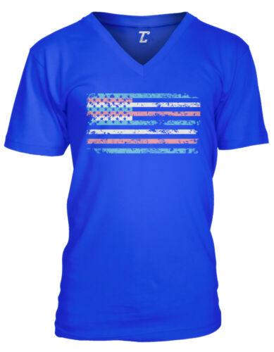 Transgender American Flag USA LGBTQ Love Pride MensVee T-Shirt