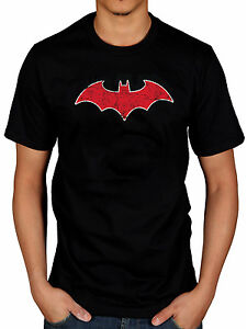 Image Is Loading Official Batman Red Bat T Shirt Robin Catwoman