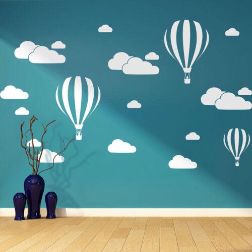 hOT aIR BALOON wall sticker VINYL BEDROOM  boys girls design wall art DECOR