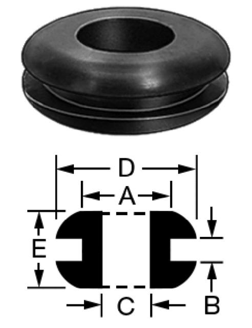 "8 Pack Brand NEW Genuine ProCraft 1//8/"" Black Rubber Grommets        RG125//250"