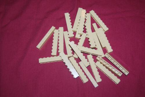 R Lego Lot 25 Tan Bricks 1 x 8 GUC 3008 10255 10182 10211 21005 4954 7194