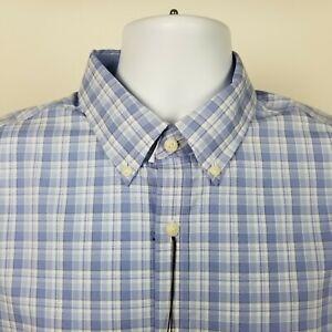 NWT-Jos-A-Bank-1905-Tailored-Fit-Mens-Blue-Check-Dress-Button-Shirt-Sz-Large-L