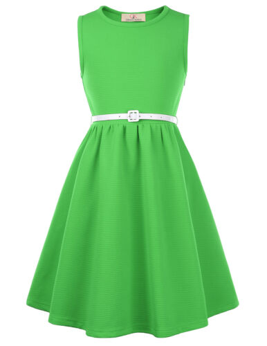 Ball 6-12 Dress Evening Skater Girls Kids Party A-line Swing Round Style 1950s