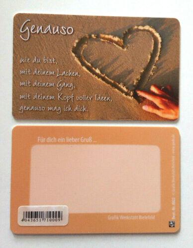 8022 Glückskarte pocketcard Kreditkarten Format 8,5 x 5,4 cm Nr Gruß