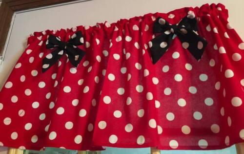 Cornices Valances Mickey Mouse Red Minnie Curtain Valance Window Topper Cotton 43 W X 15 L Home Garden Casaalvarezrh Com