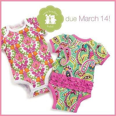 VERA BRADLEY Baby Girl Bodysuit TUTTI FRUTTI 6-9 Months One RUFFLE Bottom $28