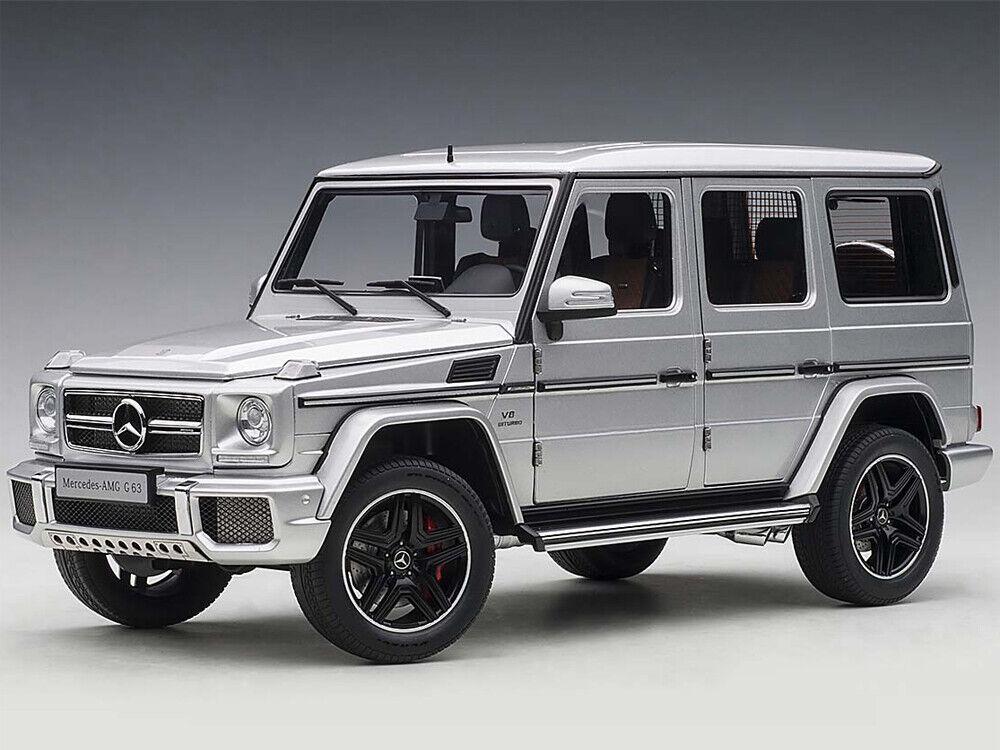 Mercedes-Benz G63 AMG plata 1 18 Autoart 76323 Totalmente Nuevo En Caja Nueva Versión