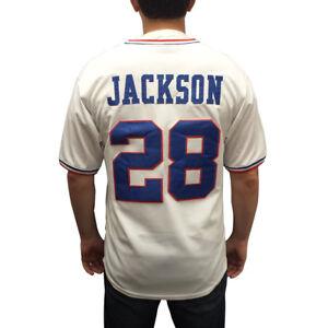 Bo Jackson #28 Poussins Blanc Maillot De Baseball Memphis Uniforme Cadeau Brodé