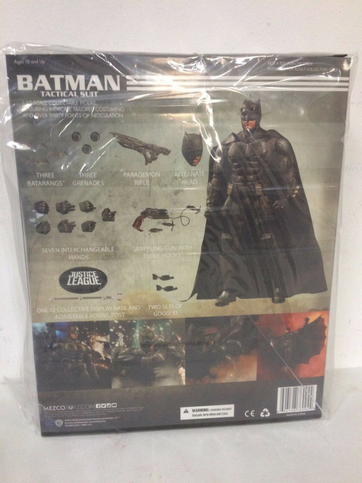 IN STOCK  MEZCO ONE 12 COLLECTIVE Tactical Suit Batman JUSTICE LEAGUE Figure DCU
