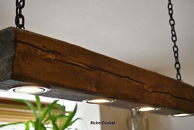 HANDGEFERTIGT* Rustikale Hängelampe Deckenlampe aus Runden Holzbalken