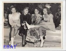 Elizabeth Taylor Jane Powell Gloria Lillico VINTAGE Photo Ice Follies 1948