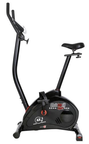Christopeit Heimtrainer Ergometer AX 3 Black Edition Fahrrad Fitness Sportgerät