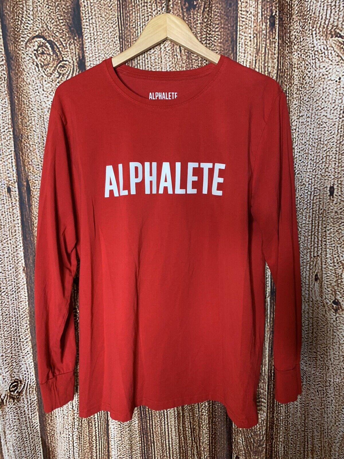Alphalete Men's Red Long Sleeve Shirt Size L