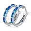 Opal-Creolen-Klapp-Stein-Silber-Farbe-Ohrringe-Damen-Frauen-Ohrschmuck Indexbild 7