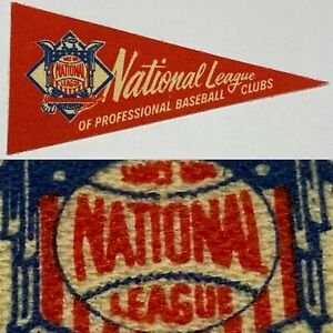1960s National League NL 1.5x3.5 Inch Decal Baseball Post Cereal Mini Pennant