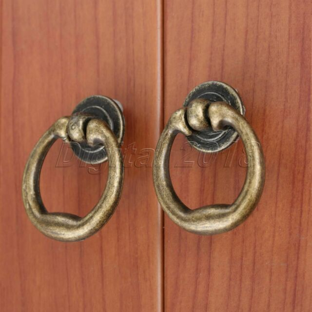 10pcs Durable Useful Vintage Pull Hardware Round Drawer Pull Handle Pull Handle